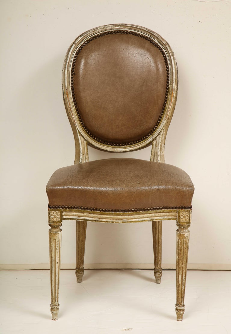 Set of 8 Louis XVI Style Dining Chairs For Sale 10