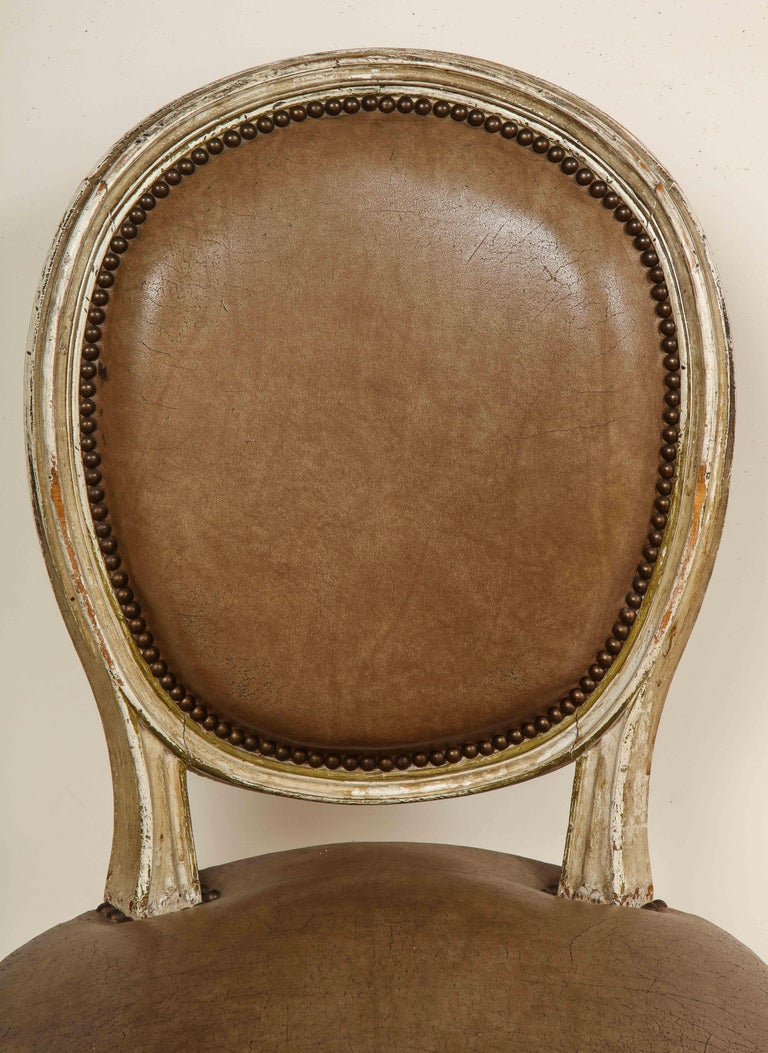 Set of 8 Louis XVI Style Dining Chairs For Sale 11