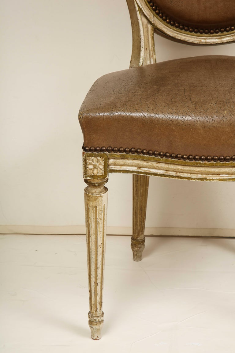 Set of 8 Louis XVI Style Dining Chairs For Sale 12