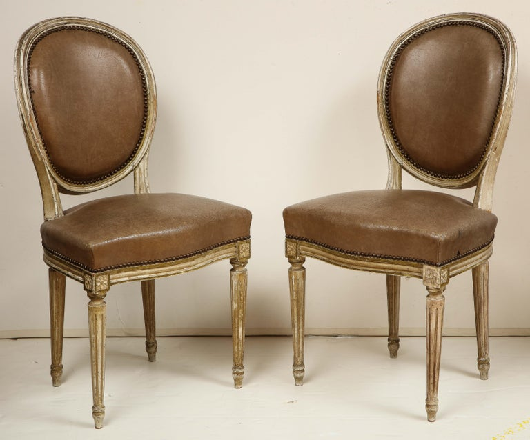 20th Century Set of 8 Louis XVI Style Dining Chairs For Sale