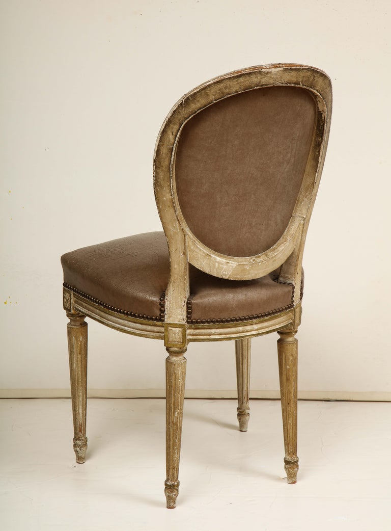 Set of 8 Louis XVI Style Dining Chairs For Sale 1