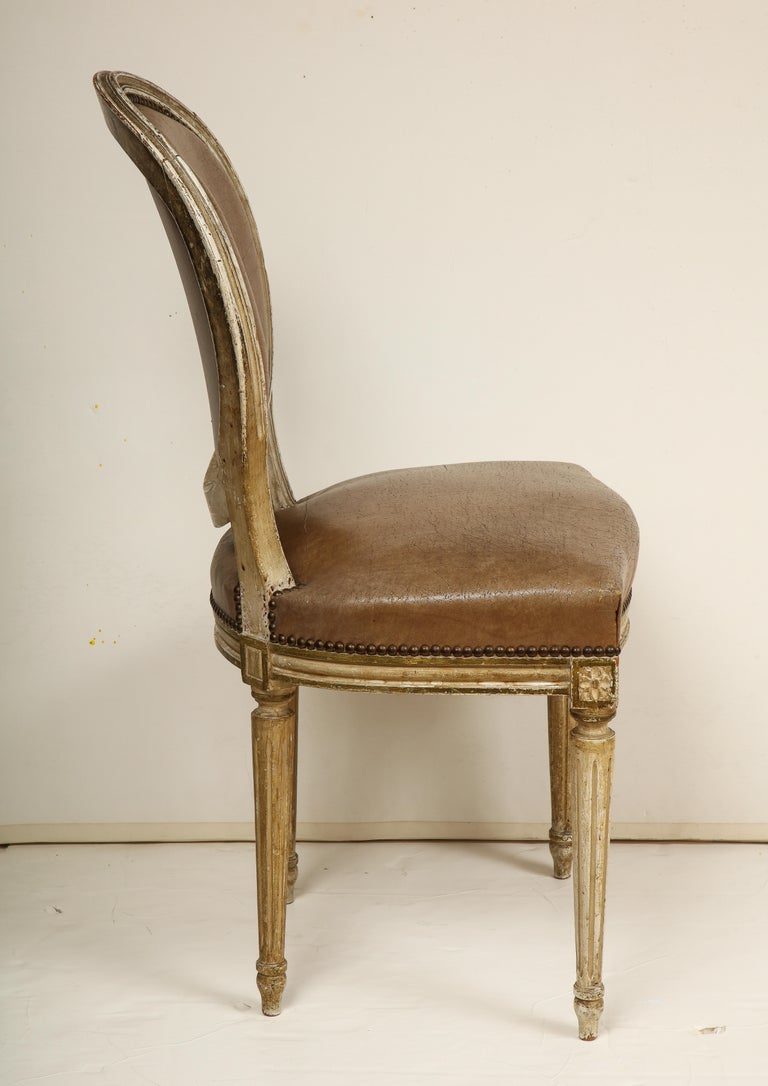 Set of 8 Louis XVI Style Dining Chairs For Sale 2