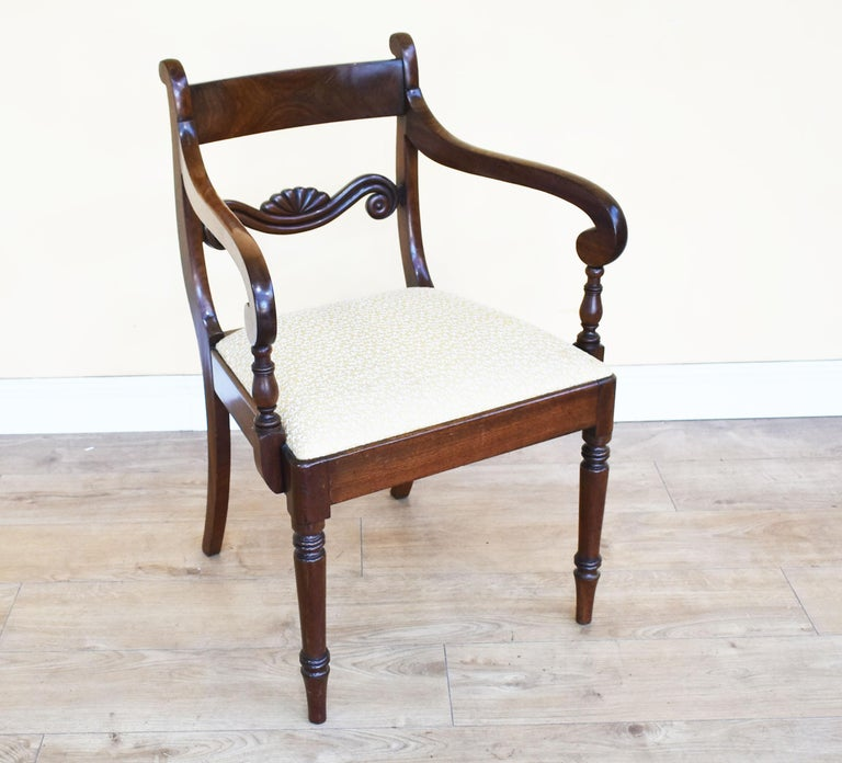 English Set of 8 Mahogany Dining Chairs, 19th Century For Sale