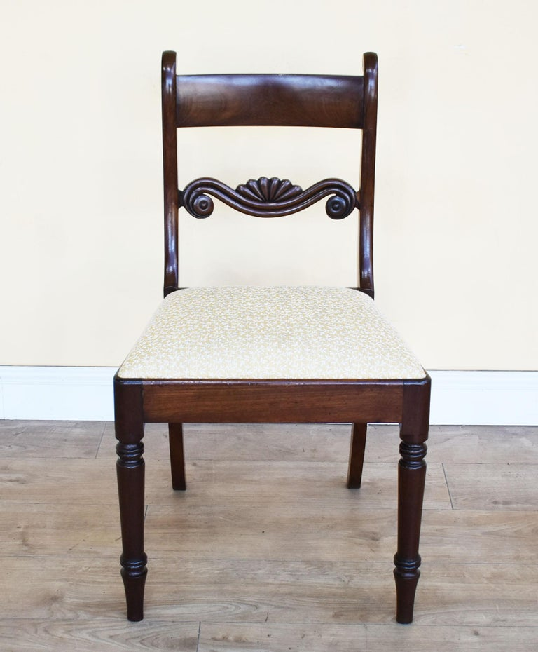 Set of 8 Mahogany Dining Chairs, 19th Century In Good Condition For Sale In Chelmsford, Essex