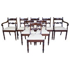 Set of 8 Mahogany Dining Chairs, 19th Century
