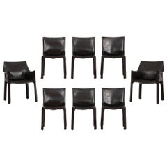 Set of 8 Mario Bellini Cab Chairs