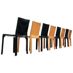 Set of 8 Mario Bellini for Cassina 'Cab' Chairs