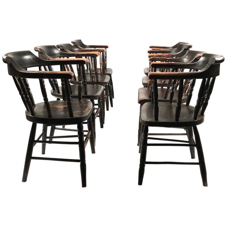 Dining Chairs For Sale: Set Of 8 Matched Captain's Dining Chairs For Sale At 1stdibs