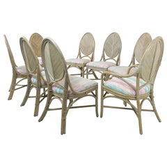 Set of 8 McGuire Dining Chairs
