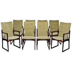 Set of 8 Mid Century Danish Rosewood Dining Chairs by Kurt Ostervig for Vamdrup