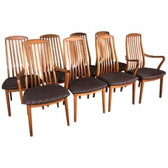 Set of 8 Midcentury Danish Teak Dining Chairs by Dyrlund This is a Fantastic Set