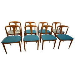 Set of 8 Mid-Century Dining Chairs by Johannes Andersen for Uldum Møbelfabrik