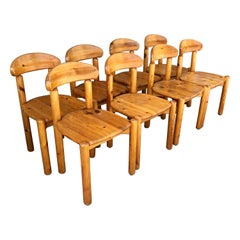 Set of 8 Mid-Century Dining Chairs Designed by Rainer Daumiller
