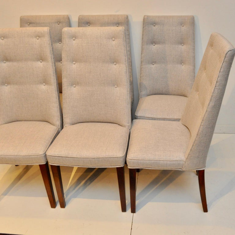 Danish Set of 8 Midcentury High-Backed Dining Chairs from Denmark For Sale