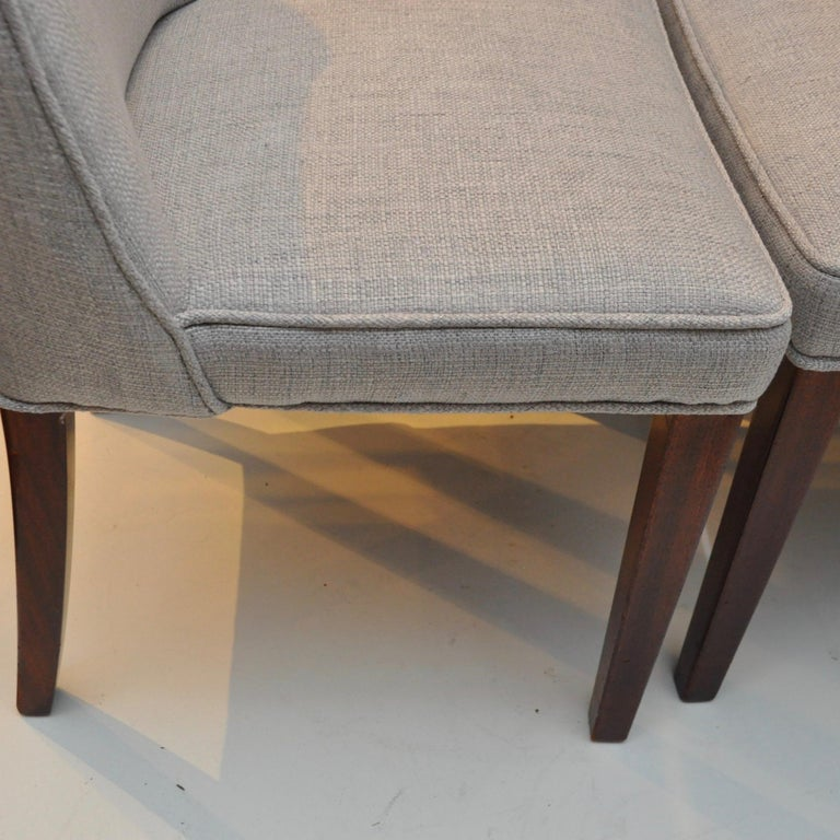 Set of 8 Midcentury High-Backed Dining Chairs from Denmark For Sale 2