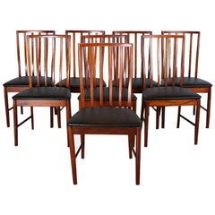 Set of 8 Mid-Century Modern Teak Dining Chairs