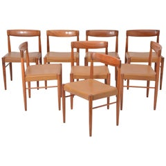Set of 8 Midcentury Dining Chairs by H.W. Klein for Bramin