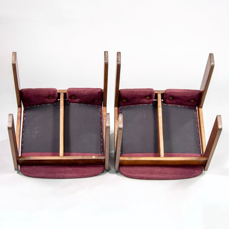 Set of 8 Model 121 Chairs in Walnut by Afra and Tobia Scarpa for Cassina  For Sale 3