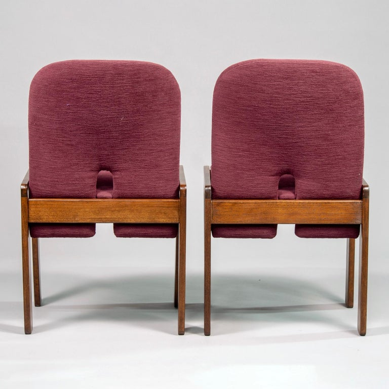 Set of 8 Model 121 Chairs in Walnut by Afra and Tobia Scarpa for Cassina  In Good Condition For Sale In Troy, MI