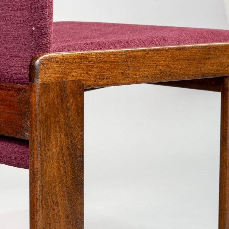 Set of 8 Model 121 Chairs in Walnut by Afra and Tobia Scarpa for Cassina  For Sale 1