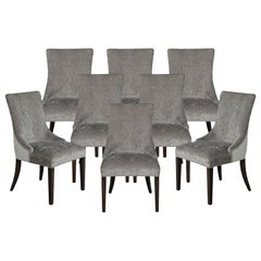 Set of 8 Modern Grey Dining Chairs