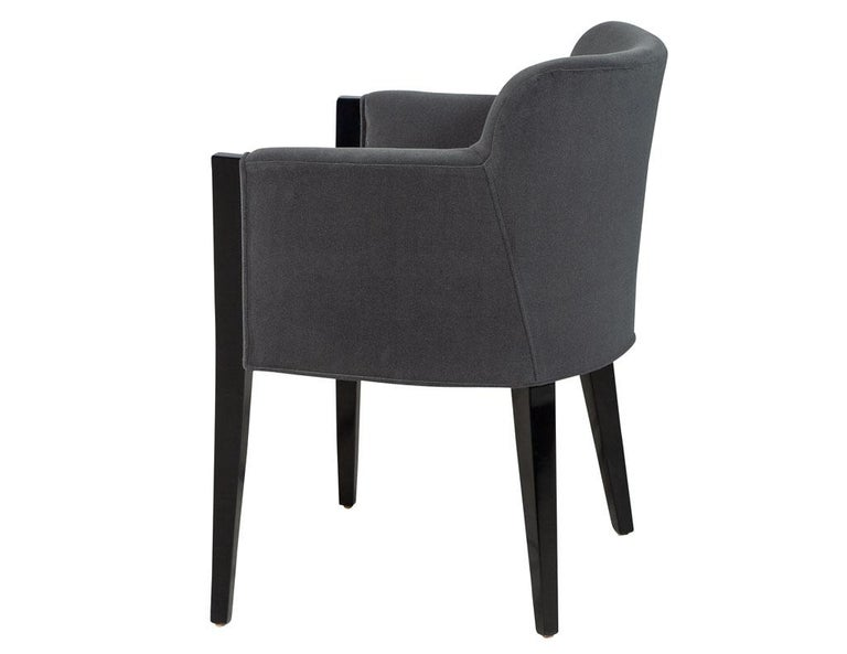 Set of 8 Modern Upholstered Dining Chairs by Carrocel For Sale 4