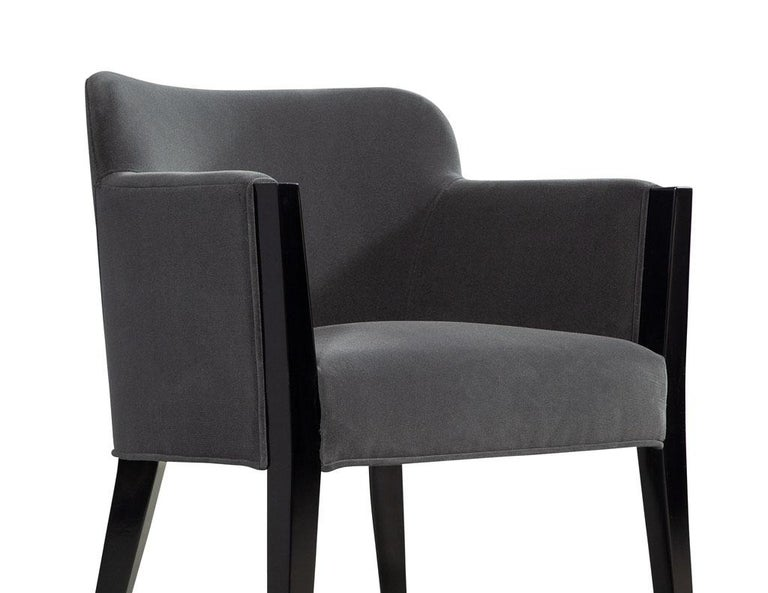 Set of 8 Modern Upholstered Dining Chairs by Carrocel For Sale 9