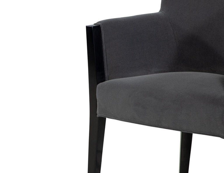 Set of 8 Modern Upholstered Dining Chairs by Carrocel For Sale 1
