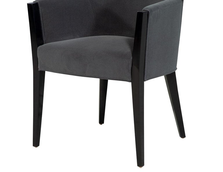 Set of 8 Modern Upholstered Dining Chairs by Carrocel For Sale 2