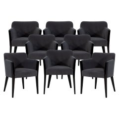 Set of 8 Modern Upholstered Dining Chairs by Carrocel