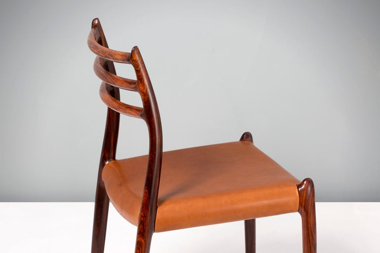 Set of 8 Niels Møller Model 78 Rosewood Dining Chairs, 1962 For Sale 2