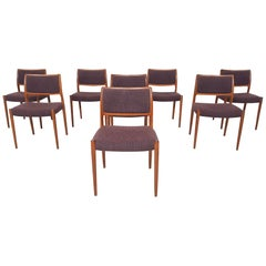 Set of 8 Niels Otto Moller Model 80 Teak Dining Chairs, Denmark 1960's