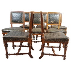 Set of 8 Oak Holland & Sons Chairs