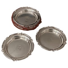 Set of 8 Old Christofle Coaster silver Plated, 19th Century