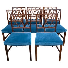 Set of 8 Ole Wanscher Dining Chairs