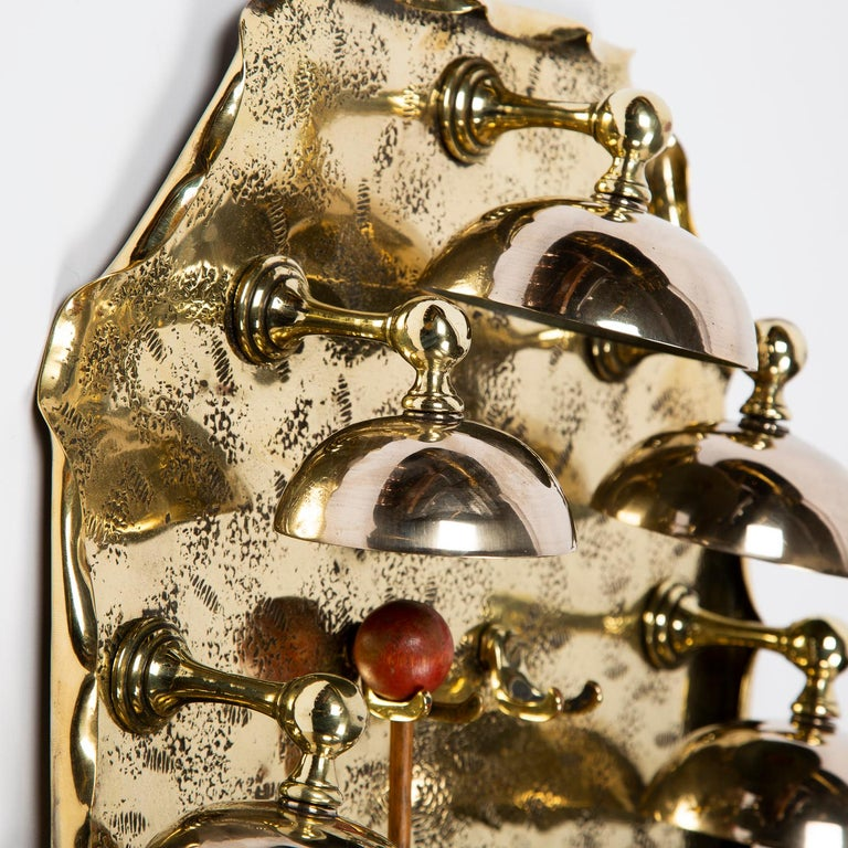 English Set of 8, One Octave, Wall Mounted Bells For Sale