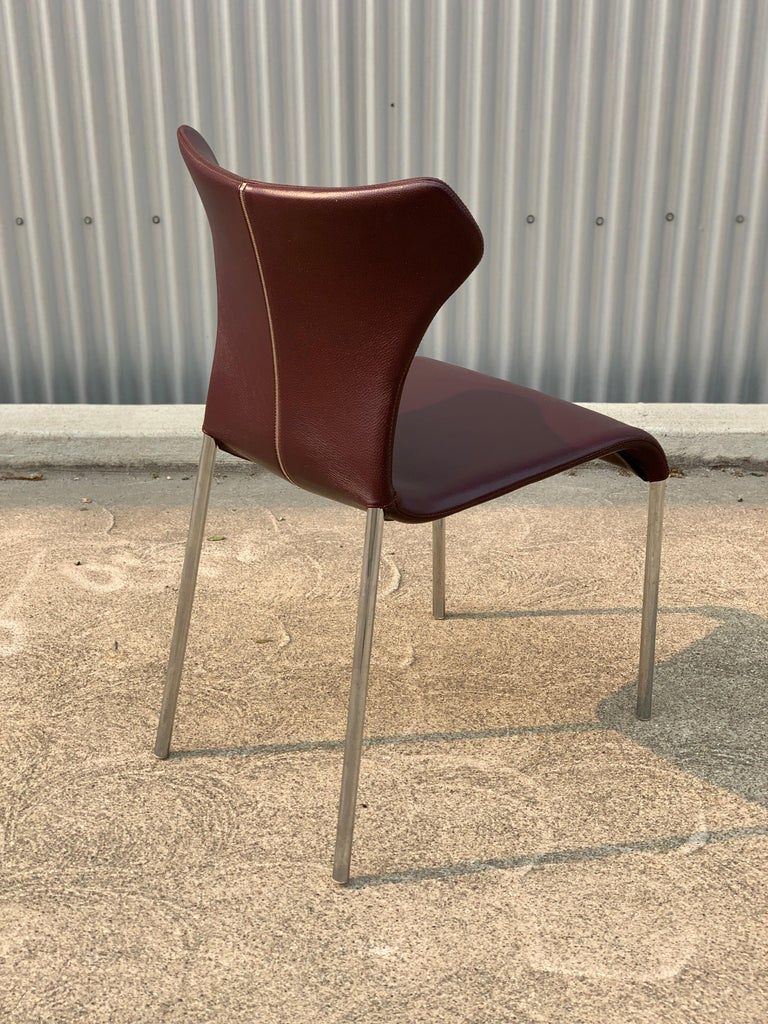 Modern Set of 8 Papilio Chairs by Naoto Fukasawa for B&B Italia For Sale