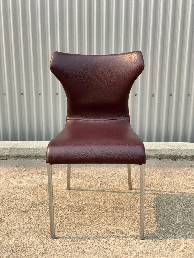Set of 8 Papilio Chairs by Naoto Fukasawa for B&B Italia In Good Condition For Sale In San Leandro, CA