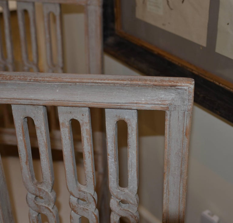Set of Eight Period Swedish Gustavian Dining Chairs For Sale 5