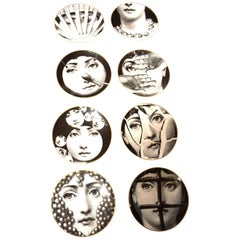 Set of 8 Piero Fornasetti Plates for Rosenthal