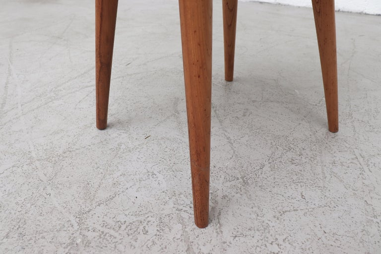 Set of 8 Pine Dining Chairs with Decorative Backrest 7