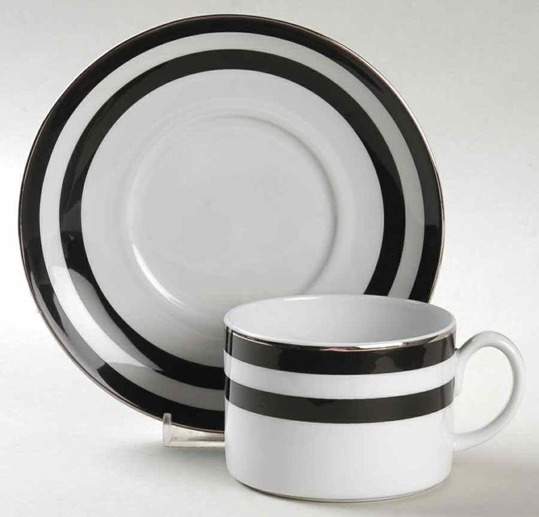 English Set of 8 Place Settings in Black Cadet Spectator by Ralph Lauren Home