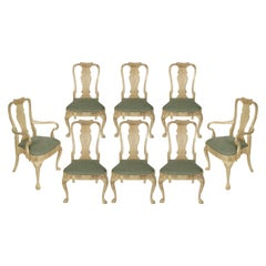 Set of 8 Queen Anne Dining Chairs