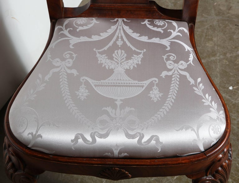 Set of Eight Queen Anne Style Dining Chairs For Sale 3