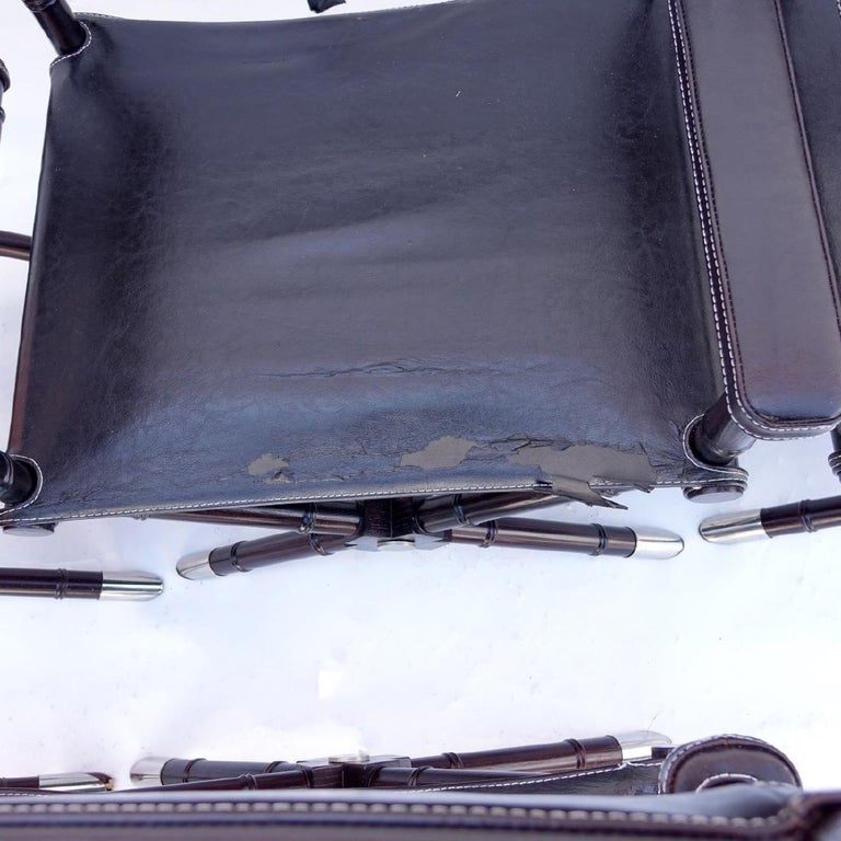 Set of 8 Ralph Lauren Style Director's Chairs For Sale 2