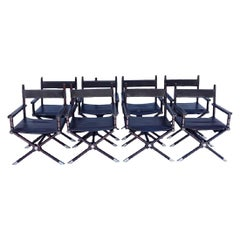 Set of 8 Ralph Lauren Style Director's Chairs