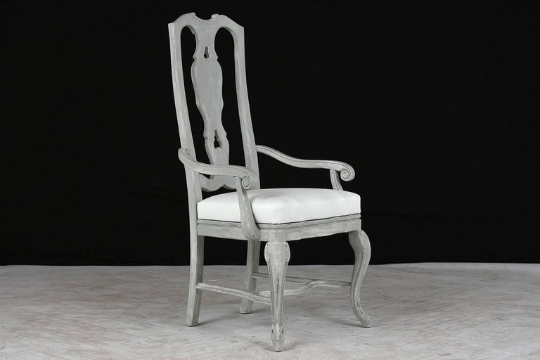 20th Century Set of Eight Regency Style Painted Dining Chairs For Sale