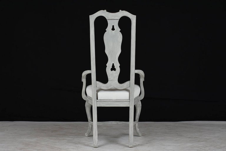 Set of Eight Regency Style Painted Dining Chairs For Sale 1