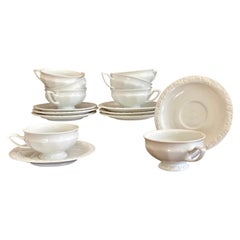 """Set of 8 Rosenthal """"Maria"""" Tea Cups and Saucers"""