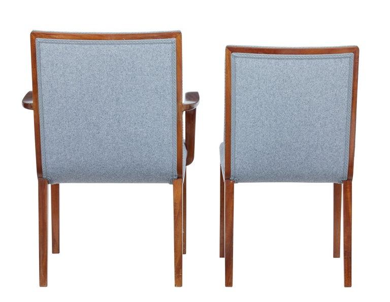 Danish Set of 8 Scandinavian Teak Mid-20th Century Dining Chairs For Sale